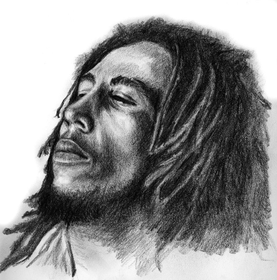 How to sketch bob marley bob marley lochasnejpa traditional art
