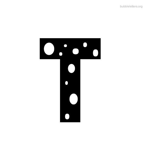 Letter T | Printable Bubble Letter T Alphabets To Print