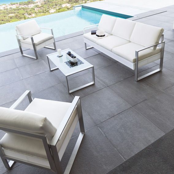 Salon de jardin Sesimbra Blanc - 5 places | Meubles | Pinterest ...
