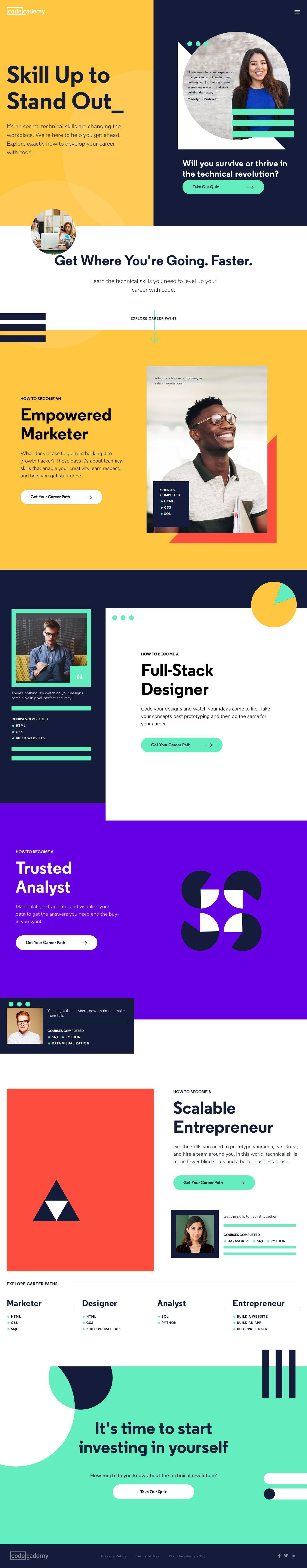 Codecademy Landing Page Design Inspiration Lapa Ninja Landing Page Design Best Landing Page Design Page Design