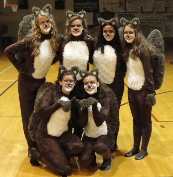 Streifenhörnchen kostüm