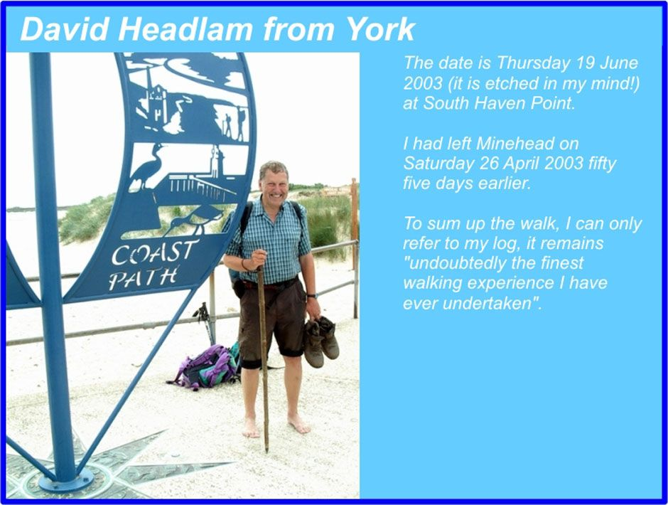 David Headlam - South West Coast Path Completer