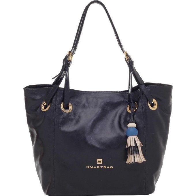 cd3a0282d Bolsa Smartbag Couro Vegetaly Tiracolo Preto - 72092.17 - Smartbag ...