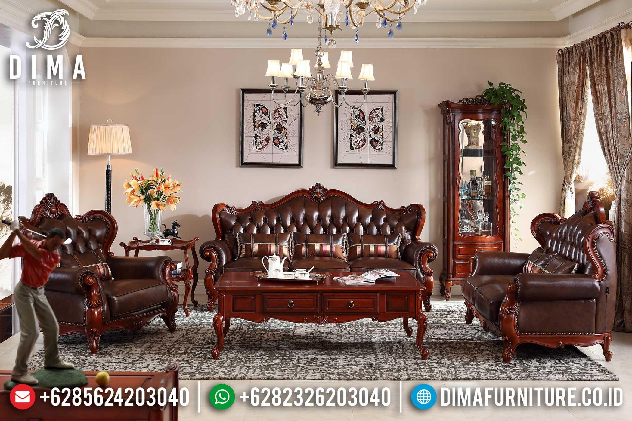Kursi Sofa Ruang Tamu Jati Jepara Mewah Terbaru Fitri Mm 0139