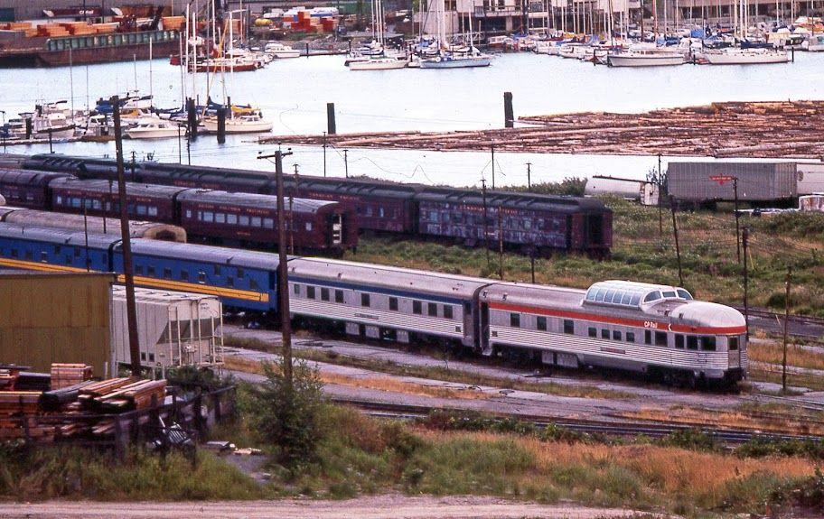 CPR False Creek Yard Vancouver Vintage train, Model
