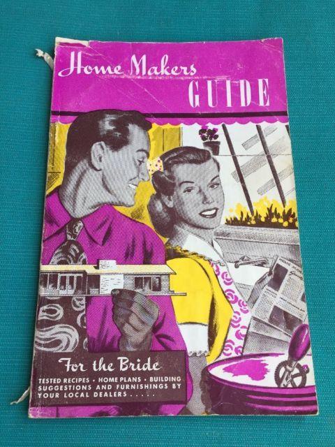 Vintage Home Makers Guide Book 1950s 1954 Bridal Shower New Bride
