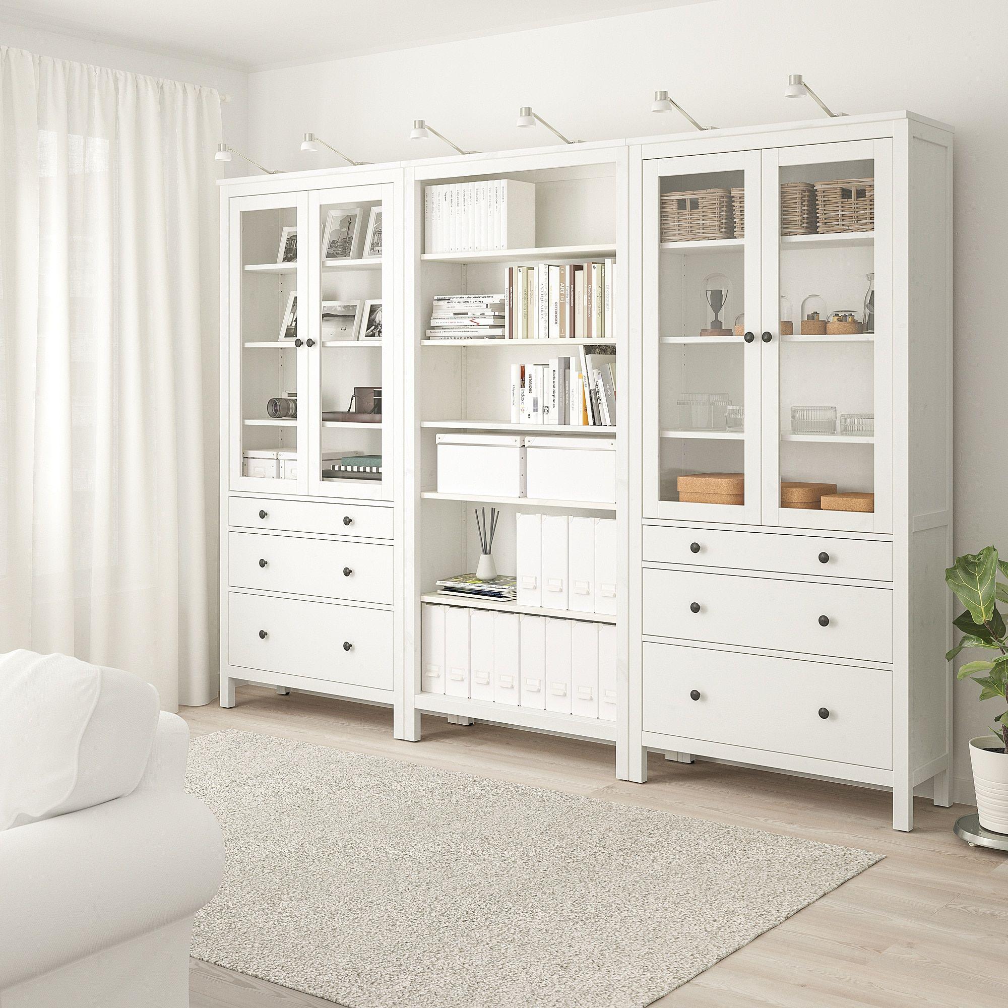 ikea hemnes storage combination w doors drawers white. Black Bedroom Furniture Sets. Home Design Ideas