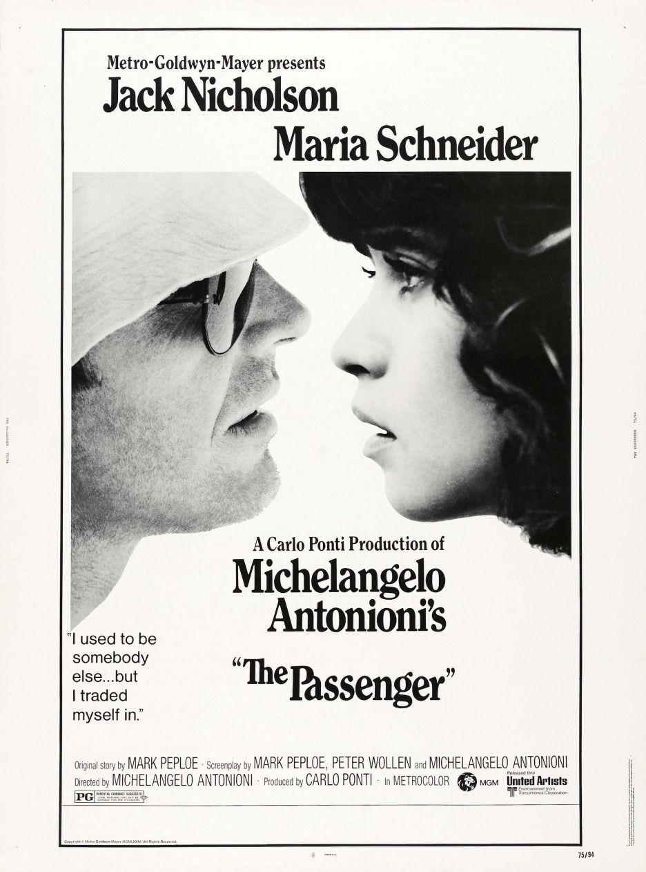 The Passenger Movie Poster 1975 1970s 1975 Film Jack Maria Nicholson Poster Schneider Sungl Passengers Movie Jack Nicholson Michelangelo Antonioni