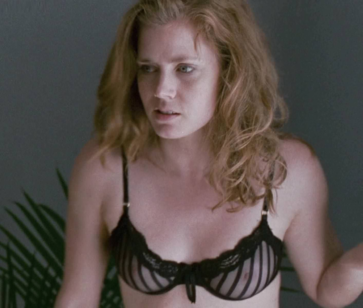 Amy Adams From The Fighter Nude With Tousled Hair In A Sheer Seethrough Transparent Lace Bra Lingerie Star Of American Hustle Junebug Enchanted