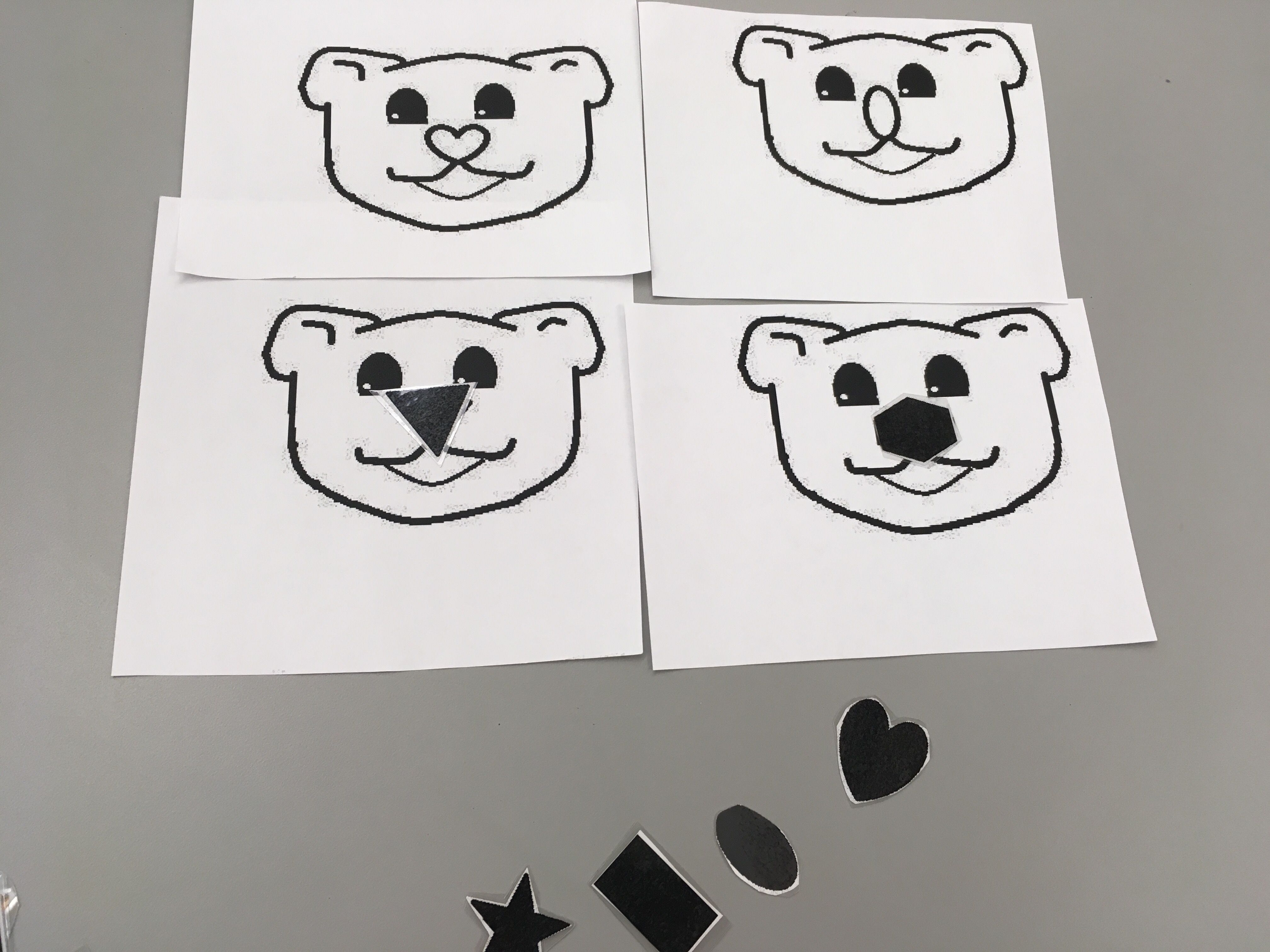 Preschool Arctic Animal Shape Match