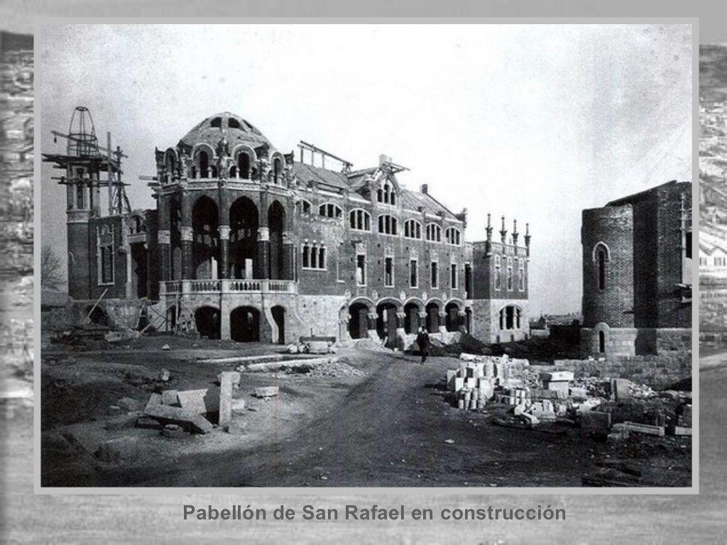 Pabell n de san rafael en construcci n hospital de sant - Calle manso barcelona ...