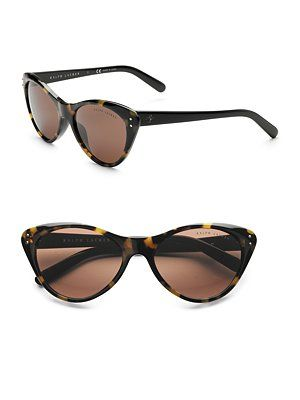 eeae69b44 Ralph Lauren Super Cat eye Sunglasses- got them in Black and Yellow  Tortoise! Love em!