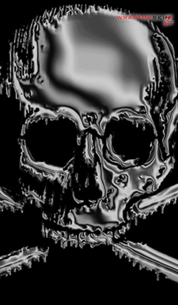 Amazon Kindle Fire Original Decal Style Skin Chrome Skull On Black Skull Wallpaper Black Skulls Wallpaper Halloween Wallpaper Iphone
