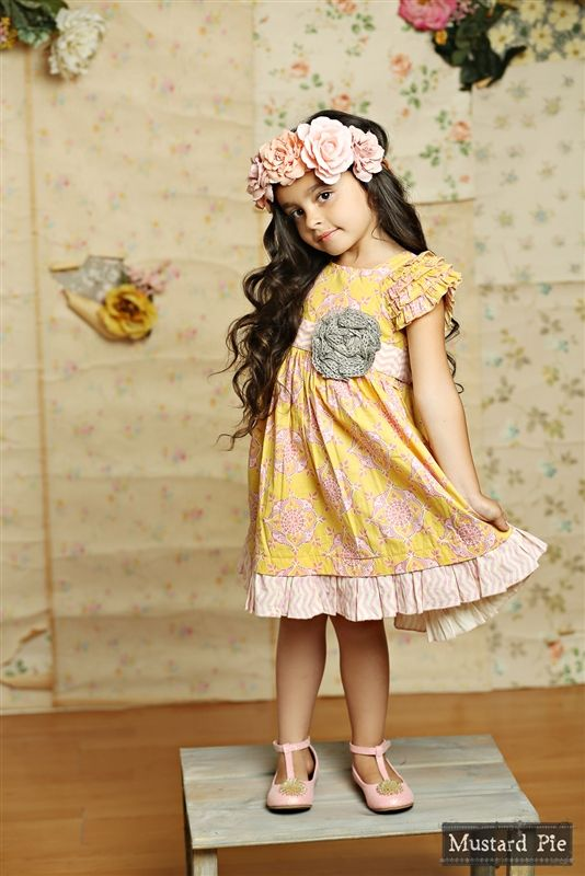 Mustard Pie Clothing - Delphine Party Dress in Sunny