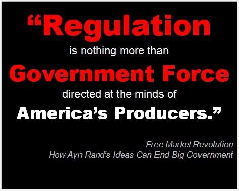"""A quote from """"Free Market Revolution: How Ayn Rand's Ideas Can End Big Government"""" by Yaron Brook and Don Watkins."""