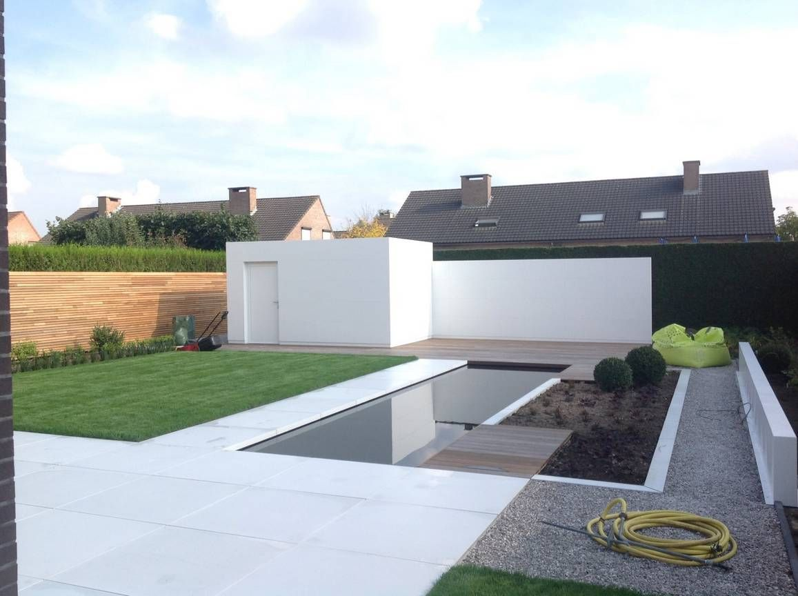 Eco tuinarchitectengroep projecten hedendaagse tuin antwerpen tuin pinterest tuin - Moderne tuin ingang ...