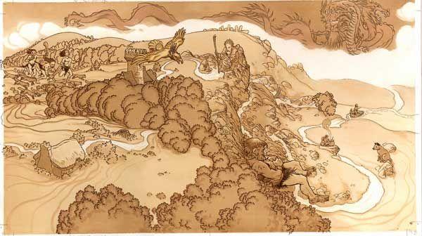 Instructions Fantasy Map Fairy Tales Gaiman
