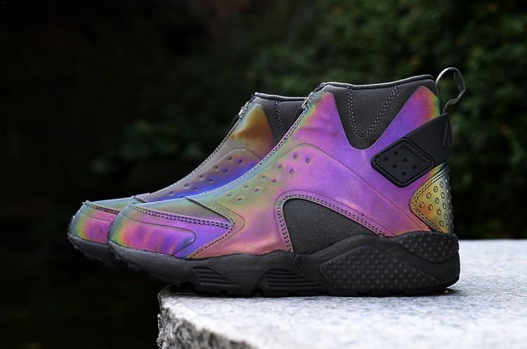 timeless design 5c78f d1cf6 Nike Air Huarache Run Mid PRM Womens Shoes Purple Black 0