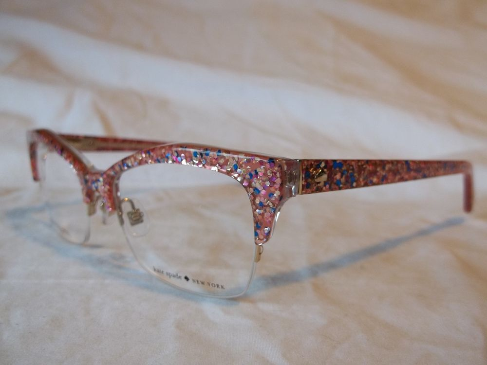 Kate spade glasses frame lyssa 0w55 pink multi color glitter 49-17 ...