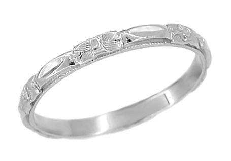 Art Deco Platinum Roses Sculptured Wedding Band Wedding Rings Art Art Deco Wedding Rings Platinum Wedding Rings