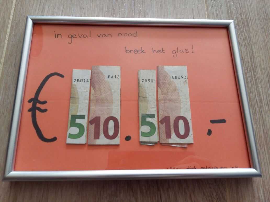 Een Leuke En Ludieke Manier Om Geld Cadeau Te Geven
