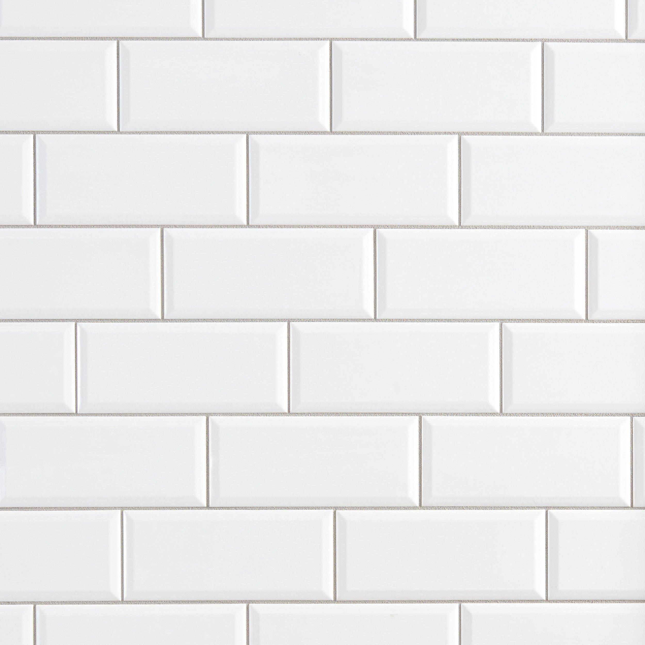 Bright White Ice Beveled Ceramic Wall Tile Ceramic Wall Tiles Ceramic Floor Tiles Wall Tiles