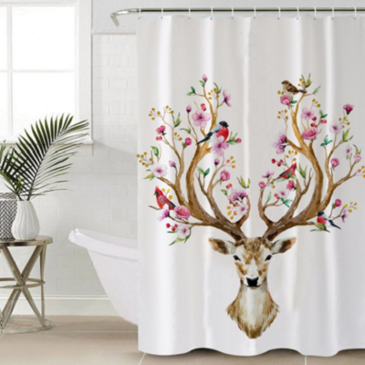Elk Floral Moose Shower Curtain Our Shower Curtains Are Printed By