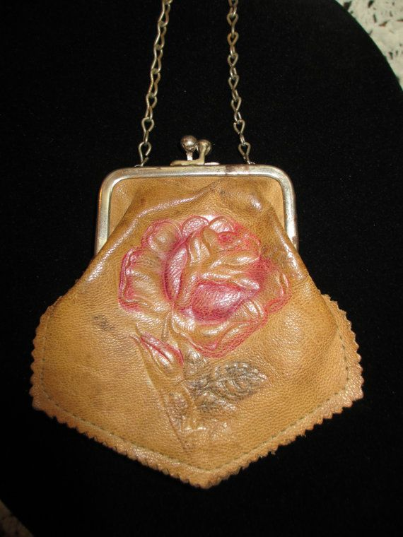Vintage Victorian Leather Purse For Your by LeapingFrogDesigns, $7.99
