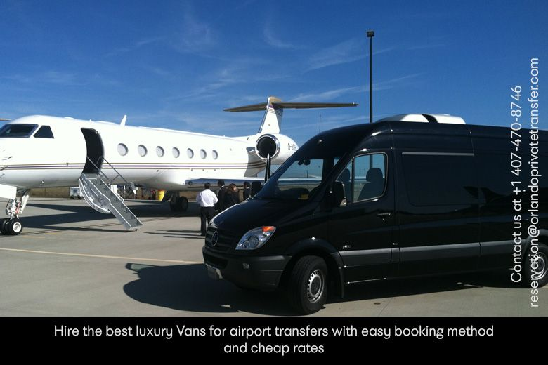 Hire the best luxury van for airport transfers with easy
