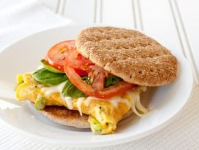 Egg & cheddar breakfast...The heat of the egg melts the cheese, making quick work of this good-for-you morning treat!