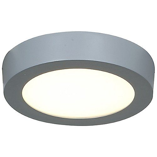 Strike round led flushmount silver small open box return by access lighting