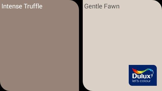 intense truffle and gentle fawn dulux decor pinterest Bedroom Paint Color Ideas Paint Colors for Small Bedrooms