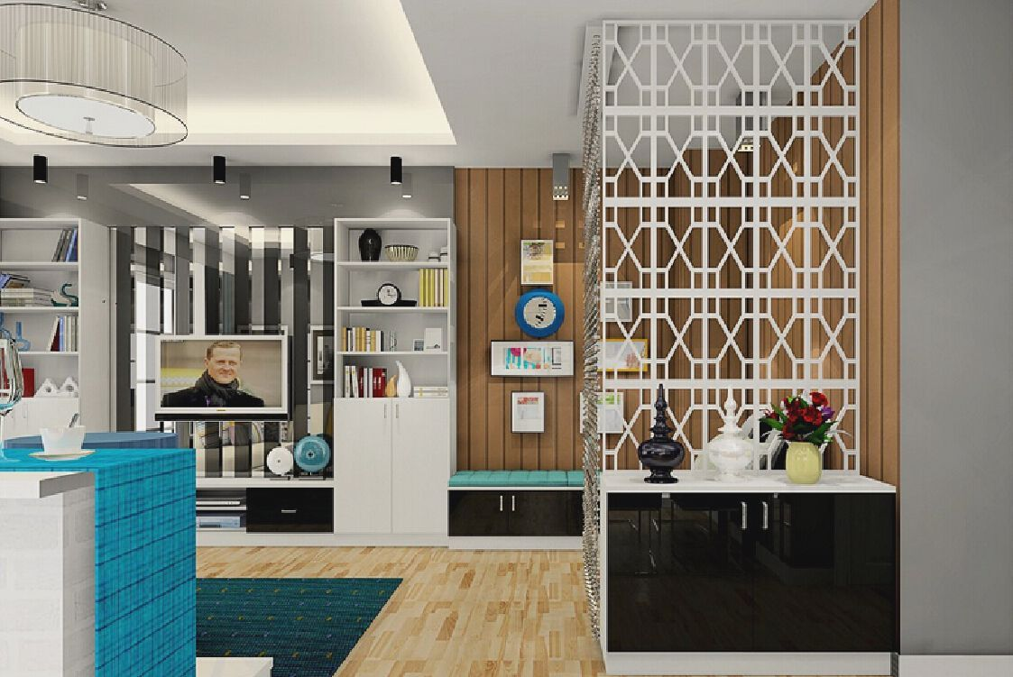 Wooden Partition Designs Between Living Dining Bsm