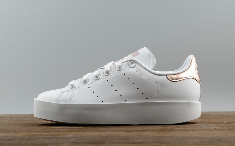 Online Adidas Stan Smith BD Platform White Gold Increase Shoes For Women  Outlet Store