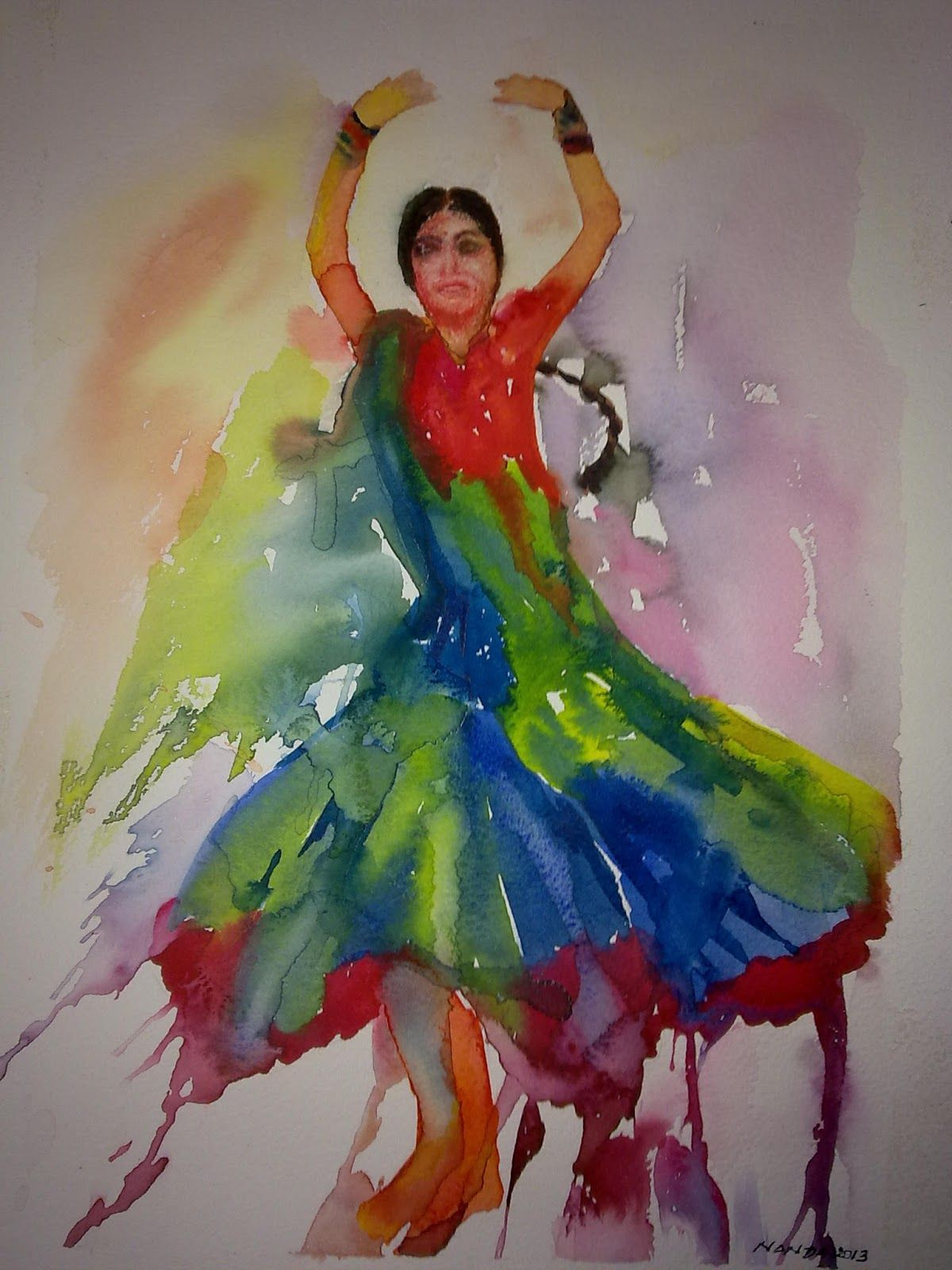 Viewing Gallery For - Abstract Paintings Of Dancers   Art ... for Abstract Painting Of Indian Dancers  588gtk