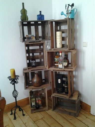 Regal Aus Weinkisten regal aus weinkisten minibar our home project
