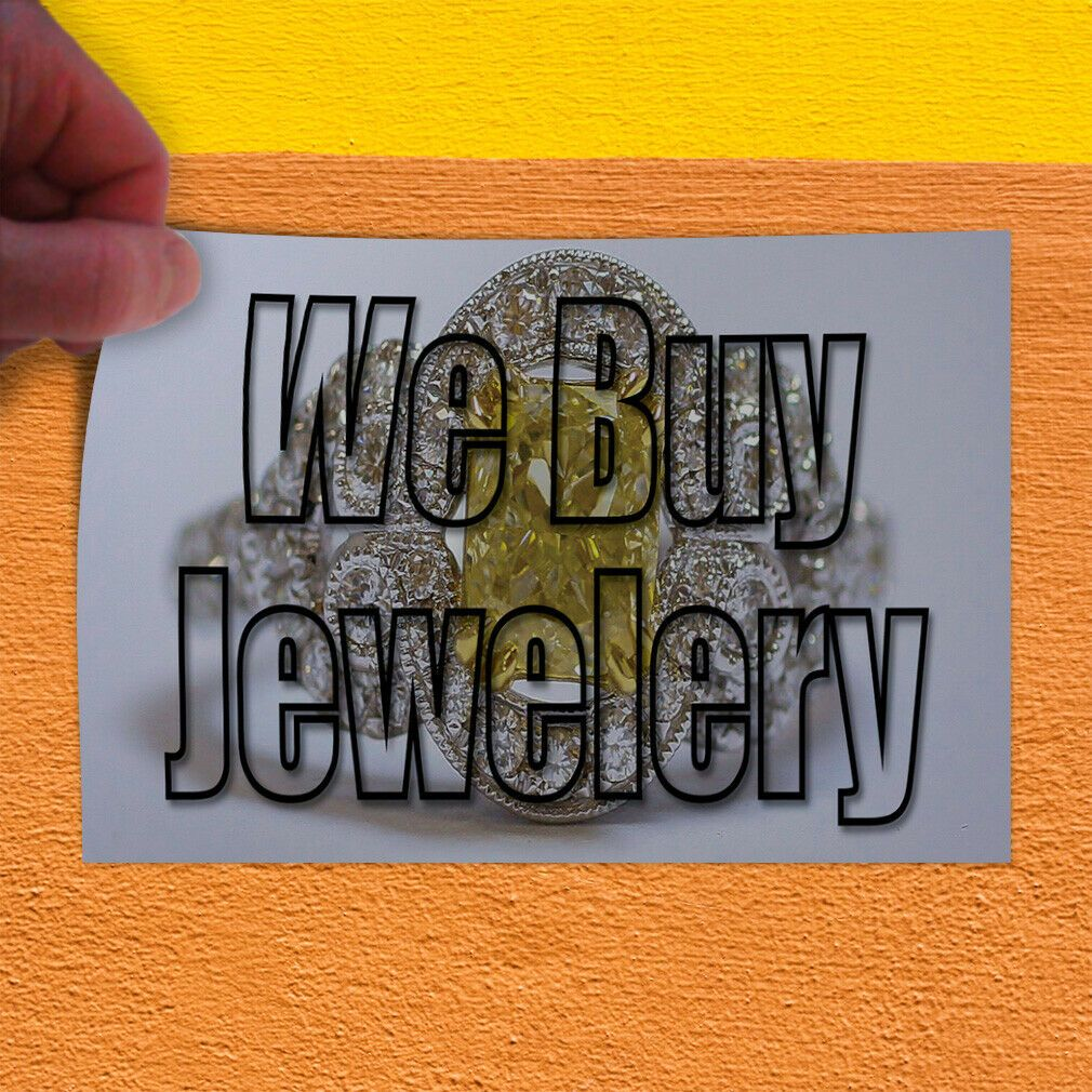 Decal Sticker We Buy Jewelry 1 Style A Business We Buy Jewelry Store Sign Ideas Of Jewelry Stores Jewelrystores In 2020