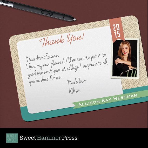 Thank You Grad Photo Graduation Thank You Notes High School - graduation thank you notes