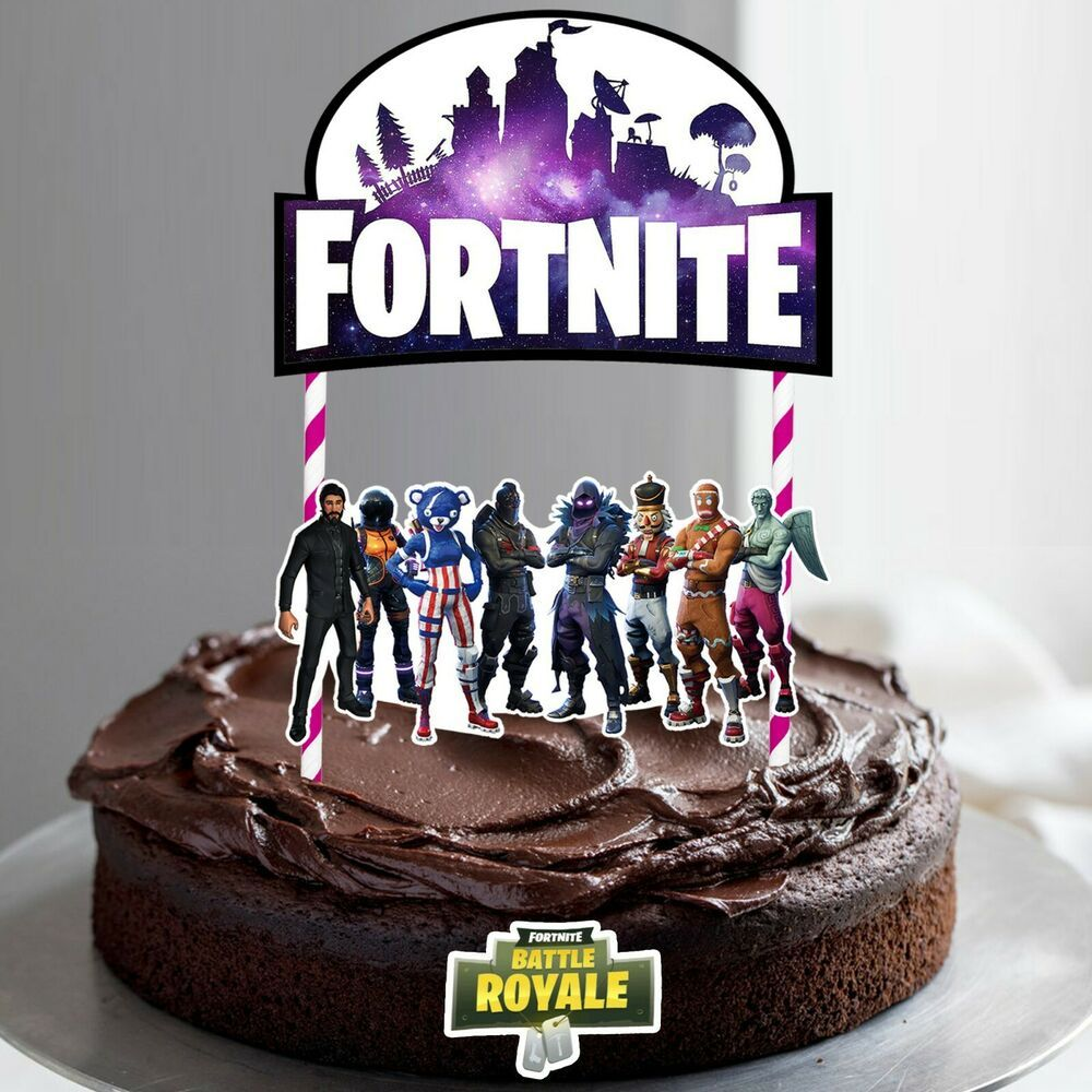 Fortnite Cake Topper 7 Inch Birthday Cake Topper And Video Game Party Supplies Fortnite Fortni Birthday Cake With Candles Edible Cake Toppers Cake Toppings