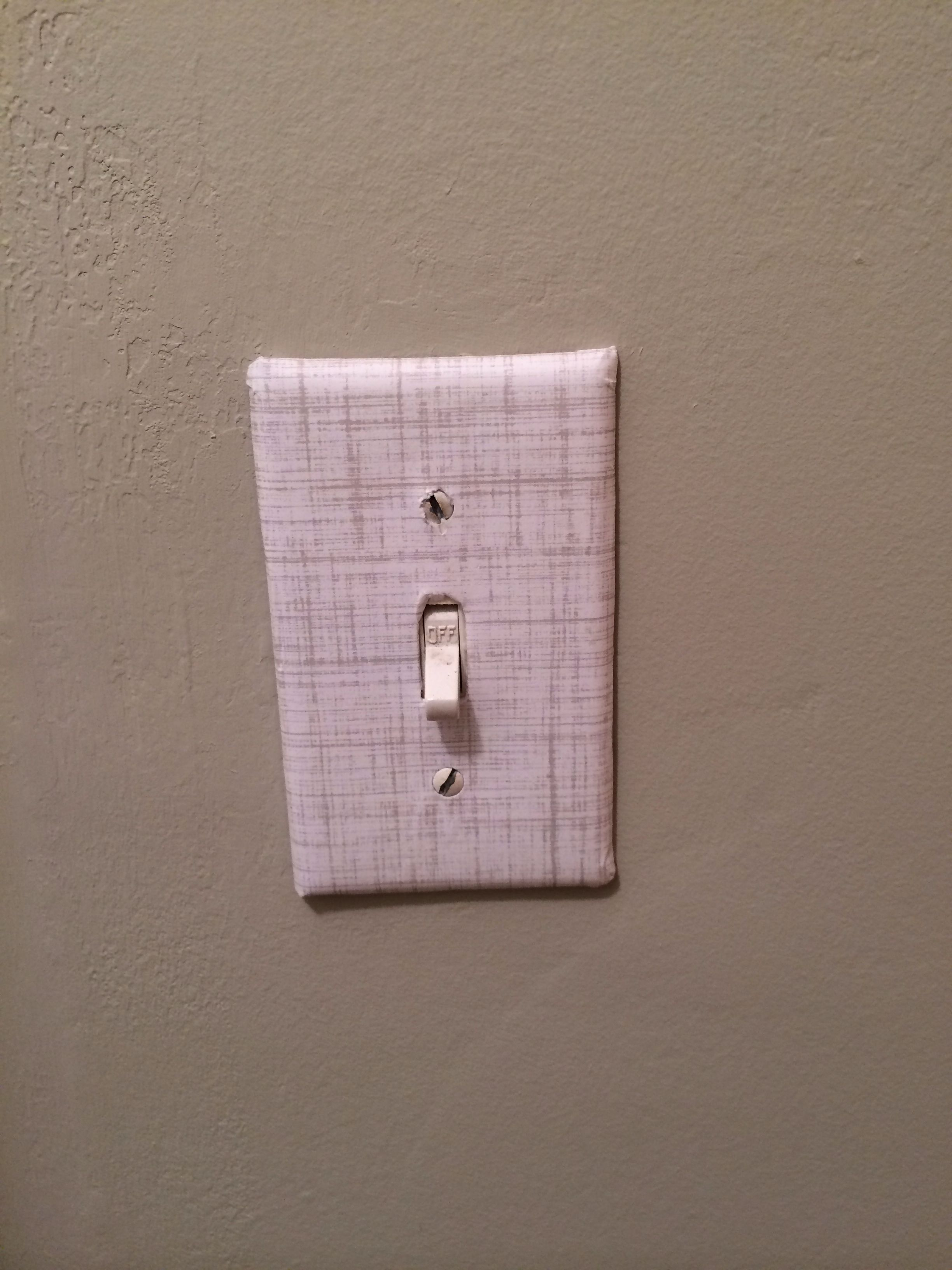 Covered The Lightswitch With Scrapbook Paper And Mod Podge Super
