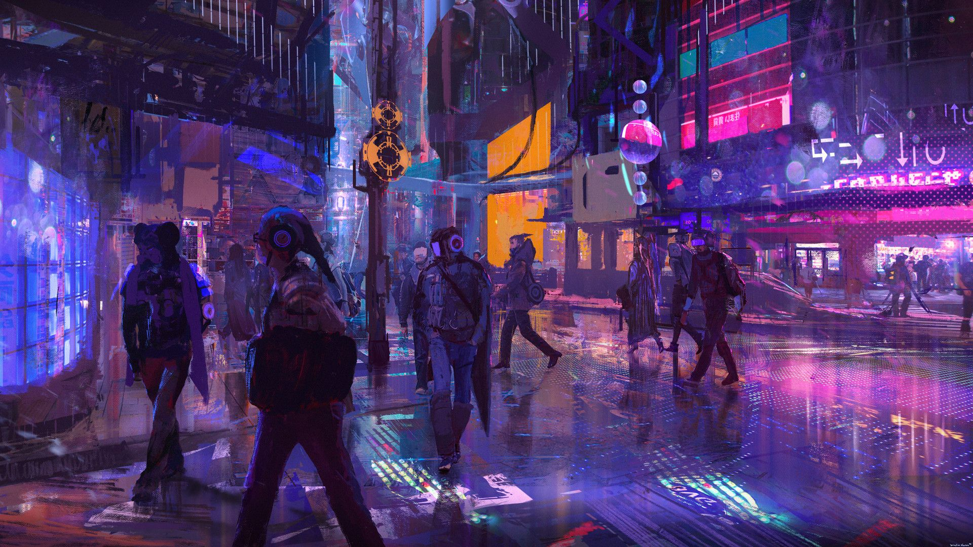 Science Fiction Wallpapers 1920x1080 Cyberpunk City Cyberpunk Art Cyberpunk Street