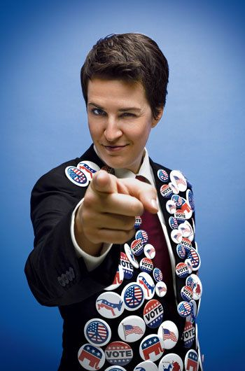 Rachel Maddow.  Can kill you with her brain.