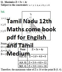 12th Maths Solution Book Tamil Medium Pdf