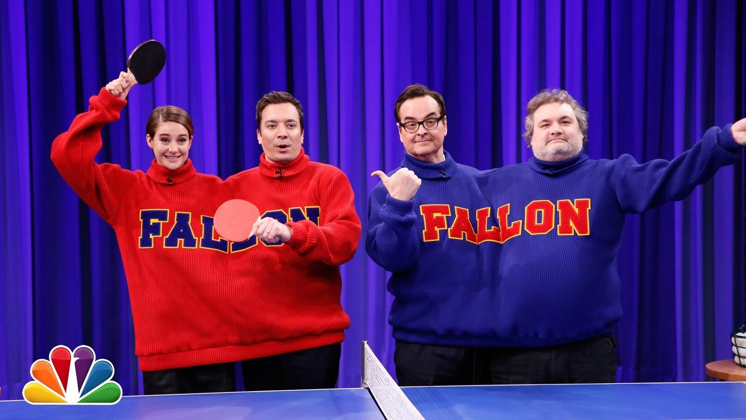 Double Turtleneck Ping Pong With Shailene Woodley And Artie Lange Billiardfactory Com Best Of Jimmy Fallon Jimmy Fallon Jimmy Fallon Videos