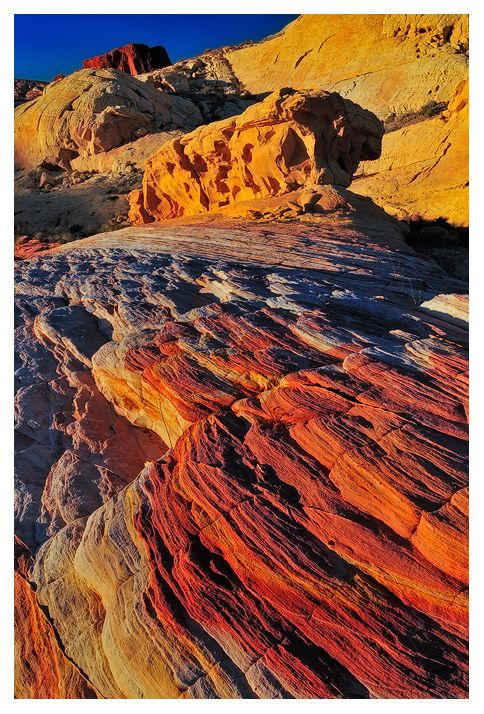 Rainbow Flow, Valley of Fire State Park, Nevada