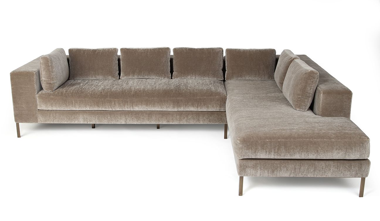 Awe Inspiring Ella Sectional Materials Mohair And Blackened Bronze Ibusinesslaw Wood Chair Design Ideas Ibusinesslaworg