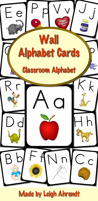 Wall Alphabet Cards (Black Frame) (Manuscript Font) | Pinterest ...
