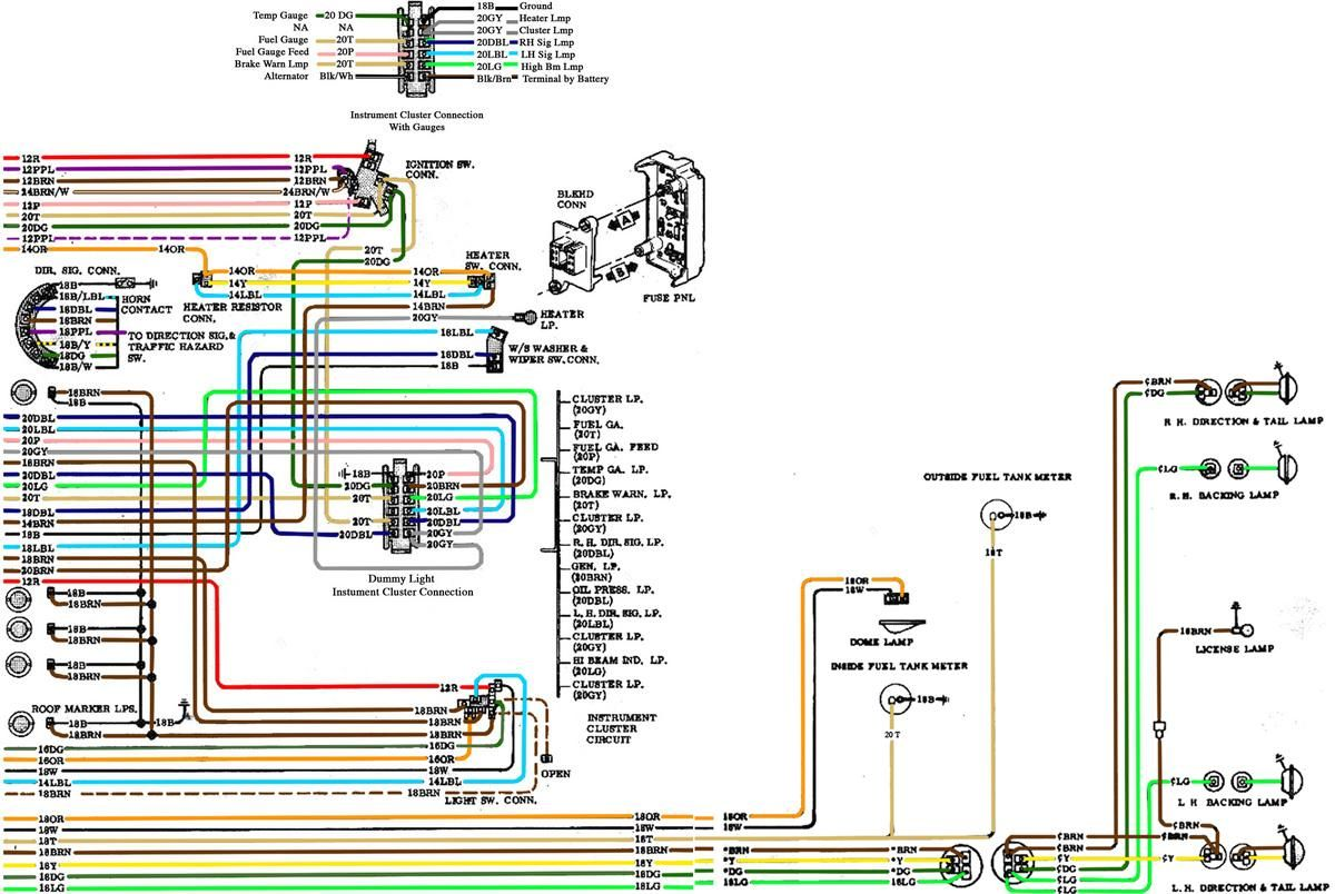 6772 Chevy Wiring Diagram | adams | Chevy trucks, 72