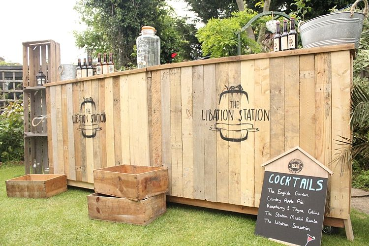 Rustic Quirky Mobile Wedding Cocktail Bar The Libation Station