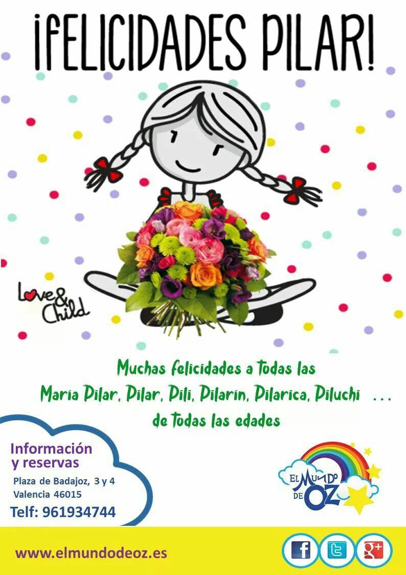 Felicidades A Todas Las Pilares Felicitaciones De Santo Gratis Felicitacion De Santo Felicidad